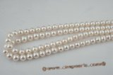 rounds10-11 10-11mm AA quality freshwater off round pearl strands in white color