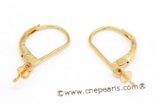 10kmounting002 14k gold plated brass Earring hoop