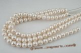 rounds12-13  12-13mm A+ quality white off round freshwater pearl strands