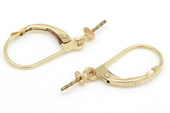 14kmounting001 14K Gold hoop Earring fittings