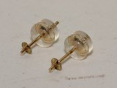 14kmounting009  14K Gold studs Earring fittings