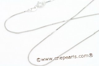 14kmounting012 wholesale white 14k gold box chain 16inch in length