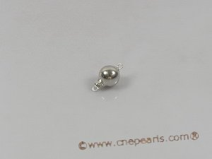14kmounting014 10mm 14K white gold ball-shaped pearl necklace clasps