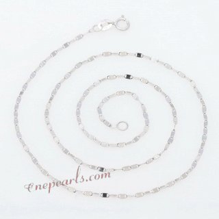 18kchain011 18K White Gold 16inch Pendant Chain in wholesale