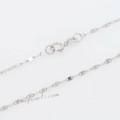 18kchian011 18K White Gold 16inch Pendant Chain in wholesale