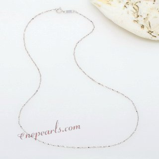 18kchain012 Wholesale 18K White Gold Necklace Chain in 16inch