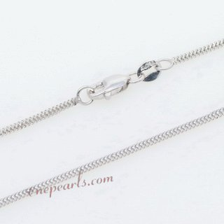 18kchain018 Discount 18 Karat White Gold Chain in 18inch