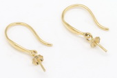 18kmounting002 18K yellow gold Fishhook earwire earring mounting