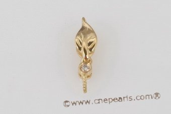 18kmounting008 18K yellow gold diamond pendant mounting