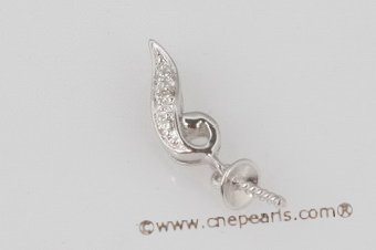 18kmounting010 Design 18K white gold diamond pendant mounting