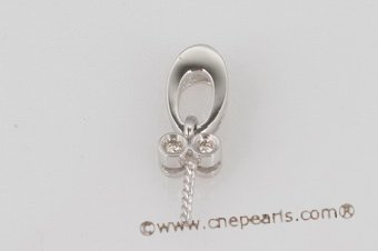18kmounting011 Designer 18K white gold diamond pendant finding