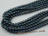 Bround001 Wholesale 8-9mm AA quality black freshwater off round pearl strand