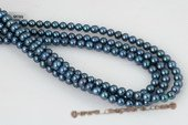 Bround002 Wholesale 7-8mm AAA black freshwater off round pearl strand