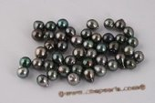 Btahiti0910A Natural Black 9-10mm A Grade Baroques Circled Tahiti loose pearls