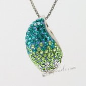 Cbp038 Chic Colorful Gemstone Sterling Silver Mango Pendant