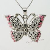 CBP048 Luxury Butterfly Pendant with Genuine SWAROVSKI GEMSTONES