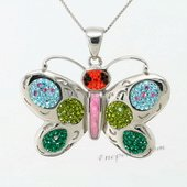 CBP059 Sparkle Butterfly Pendant with Genuine SWAROVSKI GEMSTONES