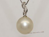 dpp039 18K  white gold modern style south sea pearl and diamond pendant