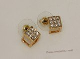 FSE010 Gold Toned Ally Zircon beads Earring  Fashion Jewelry