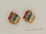 FSE013 Gold Toned Ally Zircon beads Earring Fashion Jewelry