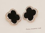 FSE015 Flower Design Fashion Stud Earring In Gold Tone Ally Metal