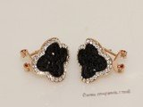 FSE020 Flower Design Fashion Stud Earring In Gold Tone Ally Metal