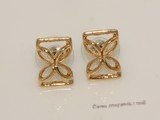 FSE026     Cut Out Style  Gold Tone Alloy Fashion Stud Earring
