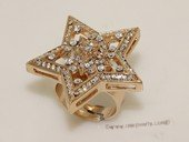 FSR013  Fashion Open Band Gold Tond  Ally Large Star Ring