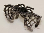 FSR014  Silver Plate Spider  Ally Hollow Out Joint Hinged Full Finger Ring