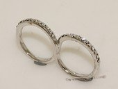 FSR030  Fashion Silver tone Two-Finger  Infinity Ring