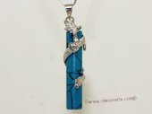 gsp142 Fashion Dragon Design Turquoise Column Pendant