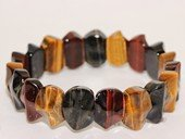 gbr056  Hand Made   Elastic Tiger Eyes Gemstone Bracelet Jewelry