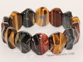 gbr060 Hand Made Elastic Tiger Eyes Gemstone Bracelet Jewelry
