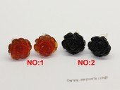Gse078 Hand carve Rose Flweor Carve Agate Stud Earring Wholesale