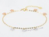 jyb004 Multicolor 18K Gold Bracelet Chian Wholesale