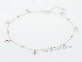 jyf006 18K White Gold Anklet Chain Wholesale