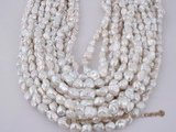 keshi030 6.5-7.5mm long-drill white colored keishi pearls on sale