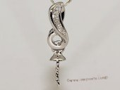kpm100 Solid 18k White Gold diamond Pendant setting