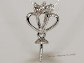 kpm104 18K White Gold Pendant setting with Diamonds
