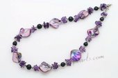 Lsn001 Rich Purple Color Shell and Amethyst Princess necklace on sale