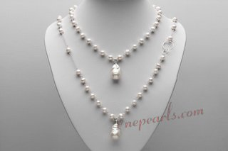 mpn383 Elegant Hand Crafted Freshwater Pearl Layer Necklace
