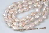 Nps001 Wholesale 13-14mm Baroque Nucleated Freshwater Pearl Strands