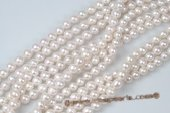 Nps002 7*9mm White Bead-Nucleated Freshwater Pearl Strands