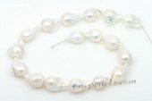 Nps005 Wholesale 14-16mm Baroque Nucleated Freshwater Pearl Strands