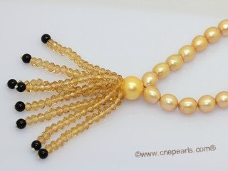 pn789  Freshwater Pearls  Necklace with Shell Pearl