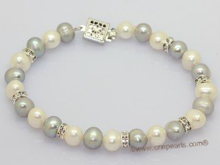 Pnset742 Hand knotted freshwater potato pearl princess necklace