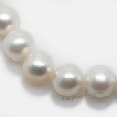 Round10-11 Wholesale 10-11mm white round freshwater pearl strands,from AAA+ to A grades