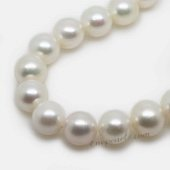 Round12-13 wholesale 12-13mm cultured white freshwater round pearl strands,from AAA+ to A grades