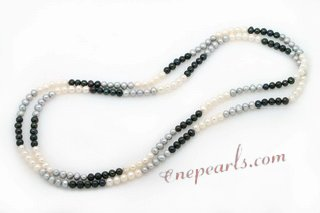 Rpn392 Delicatly Hand Strung Cultured Potato Pearl Rope Necklace