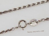 sc071 18inch 925 Sterling silver chain use for pendant